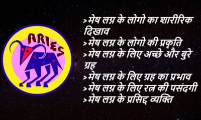 Aries Ascendant astrology in hindi