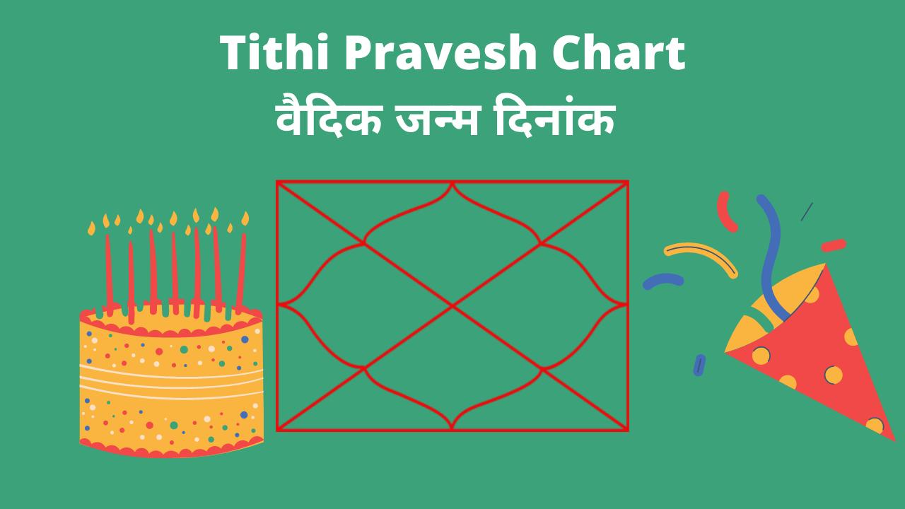 Tithi pravesh chart _ vaidik Birth Date